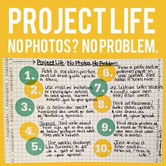 Project Life: No Photos? No Problem. Tips from @rukristin