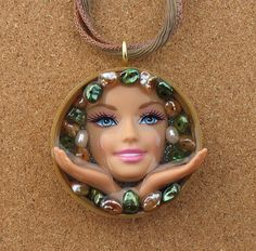 Upcycled Barbie Doll Pendant