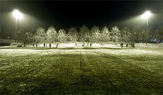Vinterfotboll på Skytteholms IP, januari 2010