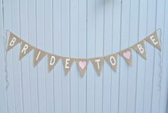 Bridal Wedding Shower Decoration BRIDE TO BE / by nhayesdesigns,