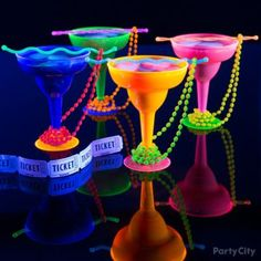 Brighten the party with drinks and beads