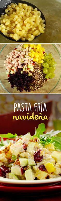 16 Ideas pasta dinner menu for 2019 Easy Pasta Dinner Recipes, Best Pasta Recipes, Easy Salad Recipes, Easy Meals, Cooking Recipes, Healthy Recipes, Pasta Dishes, Food Dishes, Christmas Pasta