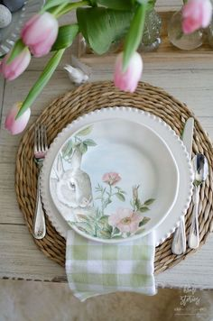 Easter table decor - Home Stories A to Z