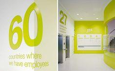 Wayfinding wall graphics #office #branding #walls #decor #graphics
