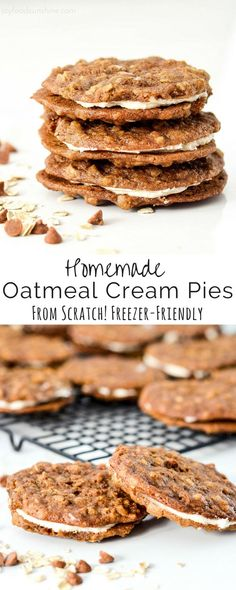 These Homemade Oatmeal Cream Pies are so much better than their store-bought counterparts and are made completely from scratch! Plus, they can be made ahead and are freezer-friendly! An absolutely delicious, make-ahead dessert to feed a crowd!