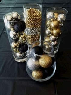 There are many Gatsby Party Ideas that you can try on our current articles, check this out. So if you're prepared to party this up, Gatsby-style Great Gatsby Party Decorations, Gold Christmas Decorations, Birthday Party Decorations, Gold Ornaments, Christmas Ornaments, Black And Gold Party Decorations, Black Gold Party, Christmas Mantles, Christmas Cactus