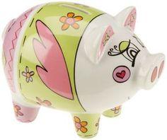 Ritzenhoff Piggy Bank Money Box Design by Marie Peppercorn Paper Mache Animals, Pig Art, Money Box, Box Design, Pigs, Free Delivery, Your Favorite, Piggy Banks, Shades