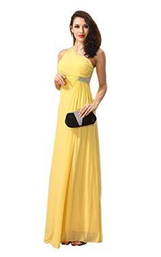 Ikerenwedding Women's One-Shoulder Beaded Chiffon Formal Evening Prom Gown Bridesmaid Dresses Yellow US4 Ikerenwedding http://www.amazon.com/dp/B017GK97ZU/ref=cm_sw_r_pi_dp_Xxapwb19N7Q0Q
