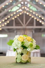 Pretty! this would be cute with a yellow, lime green and , light pink themed baby shower table decoration