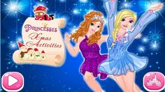 In Princesses Xmas Activities, two frozen princesses are going to try three ways of celebrating Christmas this year: a club party, figure skating and meeting with huskies. Help the beautiful sisters to choose the most suitable clothes, shoes, hairstyles and accessories for these events. Have fun! Princess Games, Frozen Princess, Disney Princess, Ema Ema, Play Game Online, Celebrating Christmas, Club Parties, Figure Skating, Princesses