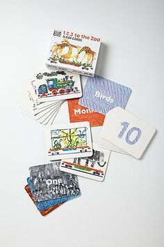 1,2,3 to the zoo flashcards. anthropologie $14.99