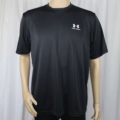 6b92c443a94 Under Armour Men s Large Short Sleeve Shirt Black 100% Polyester