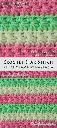 Crochet Star Stitch Stitchorama by Naztazia Free Pattern & DIY Tutorial YouTube Video by Donna Wolfe