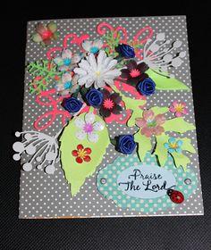 Praise the Lord flower bouquet 3D blank card handmade