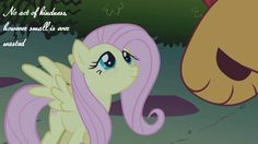Fluttershy - no act of kindness is ever wasted quote