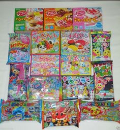 Kracie 16pcs SET Happy Kitchen Popin Cookin Cute Gummy Japanese DIY Candy Kits ✿ #Kracie