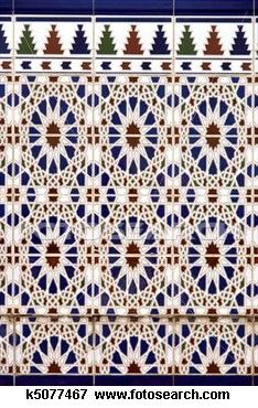 Picture of Detail of some Spanish ceramic tiles. Typical decoration stock photo, images and stock photography. Spanish Tile, Repeating Patterns, Tiles, Decorative Boxes, Ceramics, Stock Photos, Detail, Pictures, Image