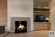 850 V. Foyers, Retractable Door, Pellets, Family Room Fireplace, Modern Interior, Interior Design, Home Reno, Home Decor Kitchen, Hearth