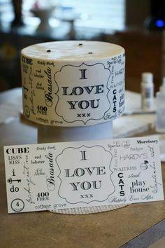 Handpainted Typography cake
