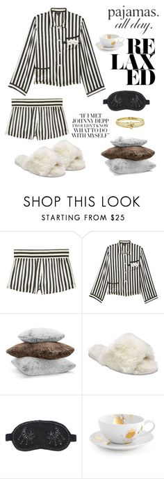 """Pajamas All Day"" by windrasiregar on Polyvore featuring Morgan Lane, Hudson Park, John Lewis, Jonathan Adler and Jennifer Meyer Jewelry"