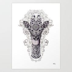 Giraffe Art Print by BioWorkZ - $16.00