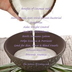 Coconut Milk is one of my FAVORITE ITEMS. I use it everyday in my morning smoothies, and in many of my recipes! The meat, water and oil are all FANTASTIC items for everything from cooking to disease prevention.