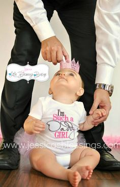 Daddys girl   girl onesie  princess  baby by 5littleblessings, $18.00