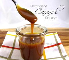 This homemade caramel sauce is rich, easy & amazing!   A few simple ingredients for a decadent sauce, perfect drizzled on ice cream, cake or even apples!