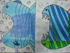 Once upon an Art Room: Fish  fun folded fish