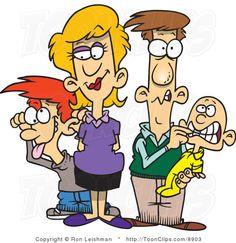 Cartoon Family | Cartoon Silly Family #8903