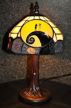 Nightmare Before Christmas Tiffany Lamp RARE Limited Edition Collectibles | eBay