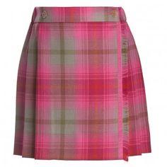 Oscar de la Renta Pink Tartan Skirt at Childrensalon.com