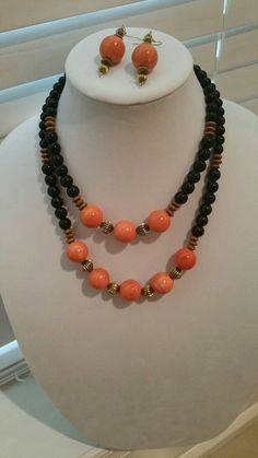 Check out this item in my Etsy shop https://www.etsy.com/listing/467378723/eye-of-the-tigerblack-and-orange-beaded