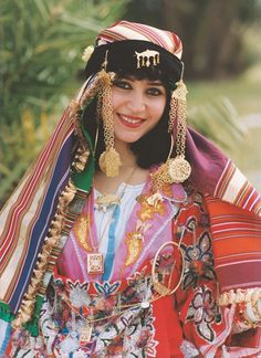 Africa | Portrait of a young woman from northeastern Tunisia | Photographer unknown