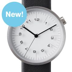 Draftsman 01-Scale 36mm (white/black) watch by . Available at Dezeen Watch Store: www.dezeenwatchstore.com