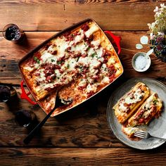 Four-Cheese Manicotti. - Personally instead of Romano I'd throw some feta in there for a little pop.