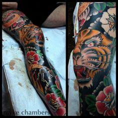 Insane leg piece by Myke Chambers