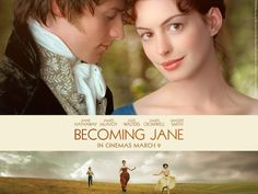 The soundtrack from the film Becoming Jane 2007 with Anne Hathaway and James McAvoy. Beautiful film and romantic soundtrack. Becoming Jane, James Mcavoy, Real Life, Jane Austen Movies, Julie Walters, Cinema, Movies Worth Watching, Romance, Chick Flicks