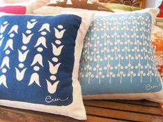 screen print pillows