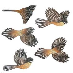 This set of Flying Coloured Fantails Wall Art is a beautiful piece New Zealand made art. Collage Drawing, Drawing Tips, Led Tealight Candles, Maori Designs, Tiki Art, Nz Art, Paper Animals, Kiwiana, Fashion Design Drawings
