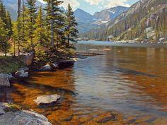 Mills Lake - Colorado landscape paintings | Jay Moore | Jay Moore Studio