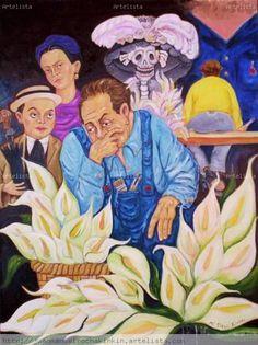 Que les parece esta pintura realizada por Diego Rivera. En muchas de las pinturas de Diego podemos ver los alcatraces.