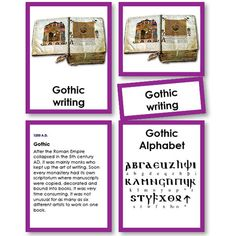 History of Writing Five Part Cards