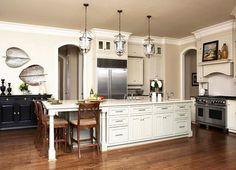 Long Kitchen Islands #2 - Table As Kitchen Island With Seating