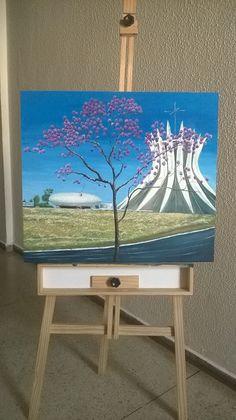 Catedral de Brasília- outra perspectiva- Tela 70x80