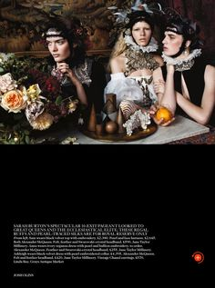 sam rollinson, ashleigh good and anna ewers by josh olins for uk vogue december 2013