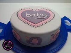 Fondant-Torte für #Babyshower #fondant #torte #backen #baby #girl #2blife #yummie #elephant #kreativ #funny