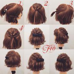 "Likes, 15 Kommentare – (Kagawa / Friseur) Nishikawa Hiroki ""Hair – … - Frisuren Ideen Pretty Hairstyles, Braided Hairstyles, Medium Hair Styles, Curly Hair Styles, Hair Arrange, Short Hair Updo, Hairstyles For Short Hair, Shortish Hair, Woman Hairstyles"