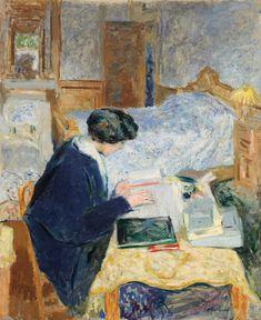 Édouard Vuillard, Lucy Hessel Reading - 1913 on ArtStack #edouard-vuillard-1 #art