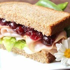 Cranberry Thanksgiving Turkey Sandwich Allrecipes.com #Butterball